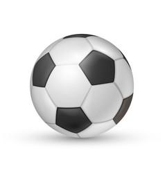 soccer ball icon football game sport vector image