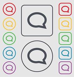 Speech bubble icons Think cloud symbols Symbols on vector image