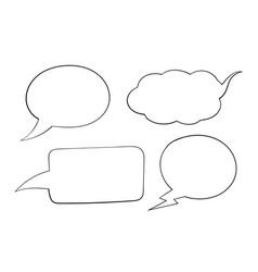 Speech bubbles outline icons vector