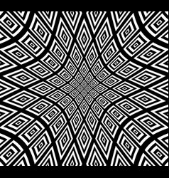 Square pattern with hollow distortion vector