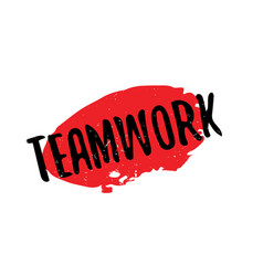 Teamwork rubber stamp vector