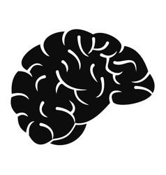 Thinking brain icon simple style vector