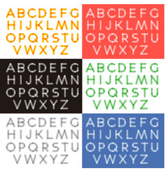 Transparent letters alphabet vector