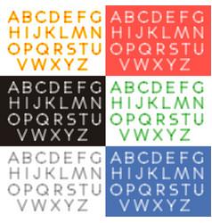 transparent letters alphabet vector image
