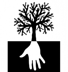 tree of hands vector image