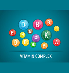 Vitamin and antioxidant complex vector