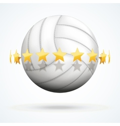 volleyball ball with golden vector image