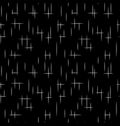 white striped on black seamless pattern vector image