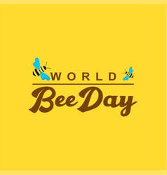 World bee day logo template design vector