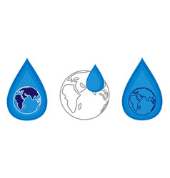 world water day concept vector image