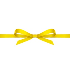 Yellow bow vector image
