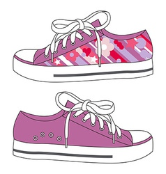 Fashion sneakers vector image