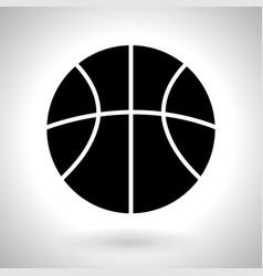 basketball ball silhouette black icon vector image vector image