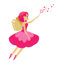 beautiful cupid girl spreading love dust winged vector image vector image