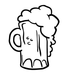 black and white beer vector image vector image