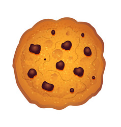 chocolate chips cookie vector image