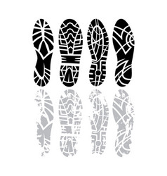 Footprint set vector