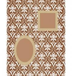 framework for photos on wallpaper vector image vector image