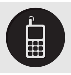 information icon - old mobile phone with antenna vector image vector image