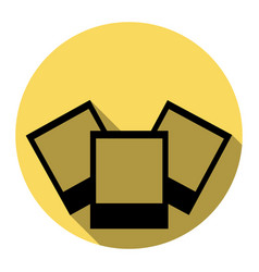 photo sign flat black icon vector image