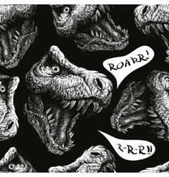 Trex dinosaur seamless background eps 8 vector