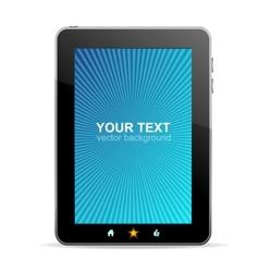 Black tablet like Ipade on white background vector image