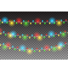 Christmas decoration realistic luminous garland on vector image vector image