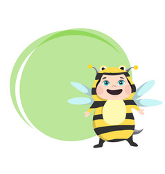 cute girl dressed in carnival costume bee vector image