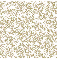 floral rose wedding seamless pattern vector image vector image