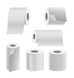realistic paper roll set template blank vector image vector image