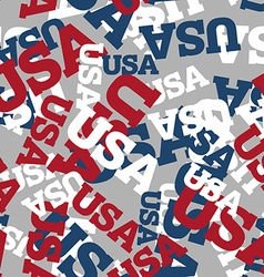 Usa seamless pattern national background american vector