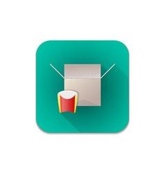cardboard recycle waste icon vector image vector image