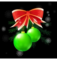 christmas ball concept vector image vector image