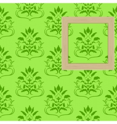 framework for photos on wallpaper vector image vector image