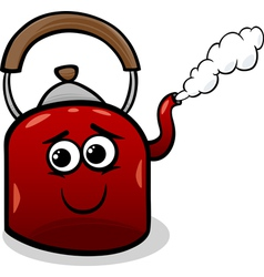 kettle and steam cartoon vector image