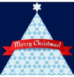 Stylized minimalistic Christmas tree card vector image