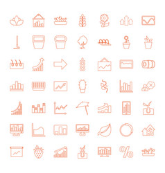 49 growth icons vector image