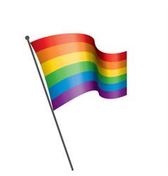 A rainbow flag vector