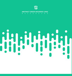 Abstract green pastels color geometric rounded vector