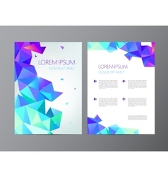 Abstract modern flyer vector