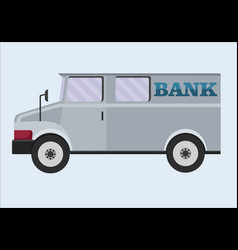 Armored truck banking transportation of vector
