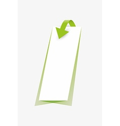 arrow and paper with shadow vector image