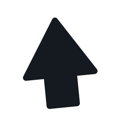 arrow up direction web upload pictogram vector image
