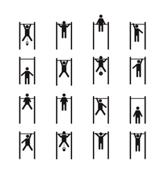 Athlete on horizontal bar vector