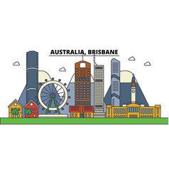 Australia brisbane city skyline architecture vector