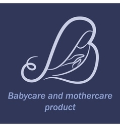 Babycare and mothercare products logo vector image