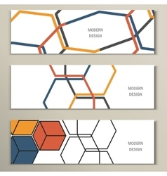 Beautiful pattern of the hexagonal net vector image