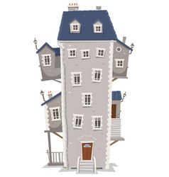 Big tall house building vector