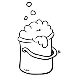 Black and white freehand drawn cartoon cleaning vector