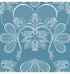 Blue lace for vintage card decoration seamless vector